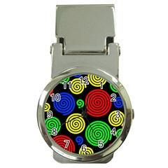 Colorful hypnoses Money Clip Watches
