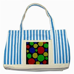 Colorful hypnoses Striped Blue Tote Bag