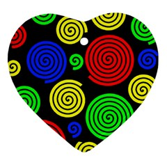 Colorful hypnoses Heart Ornament (2 Sides)