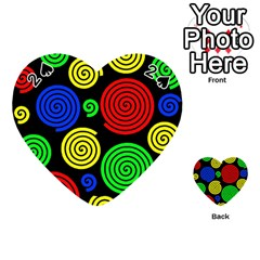 Colorful hypnoses Playing Cards 54 (Heart)