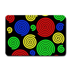 Colorful hypnoses Small Doormat