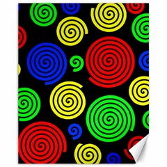 Colorful hypnoses Canvas 11  x 14