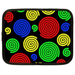 Colorful hypnoses Netbook Case (Large)