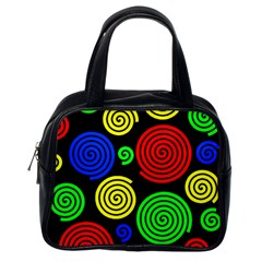 Colorful hypnoses Classic Handbags (One Side)