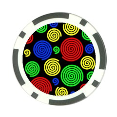 Colorful hypnoses Poker Chip Card Guards (10 pack)