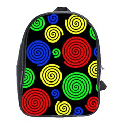 Colorful hypnoses School Bags(Large)