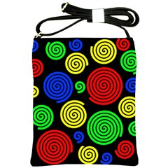 Colorful hypnoses Shoulder Sling Bags