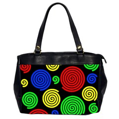 Colorful hypnoses Office Handbags (2 Sides)