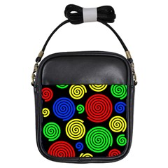 Colorful hypnoses Girls Sling Bags