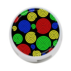 Colorful hypnoses 4-Port USB Hub (Two Sides)