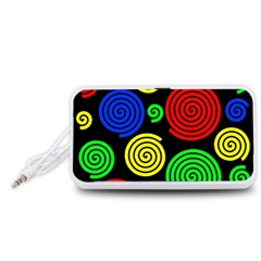 Colorful hypnoses Portable Speaker (White)
