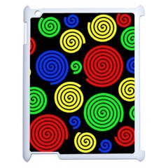 Colorful hypnoses Apple iPad 2 Case (White)