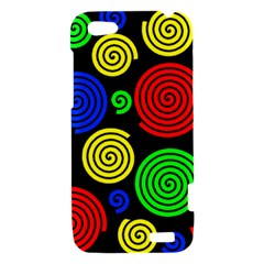 Colorful hypnoses HTC One V Hardshell Case