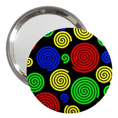 Colorful hypnoses 3  Handbag Mirrors