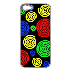 Colorful hypnoses Apple iPhone 5 Case (Silver)