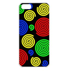 Colorful hypnoses Apple iPhone 5 Seamless Case (White)