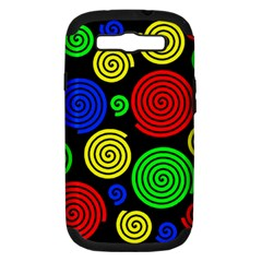 Colorful hypnoses Samsung Galaxy S III Hardshell Case (PC+Silicone)