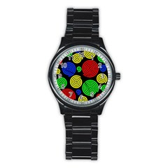 Colorful hypnoses Stainless Steel Round Watch