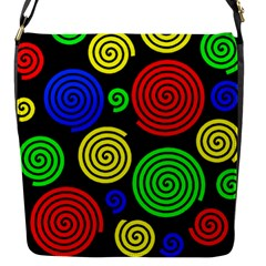 Colorful hypnoses Flap Messenger Bag (S)