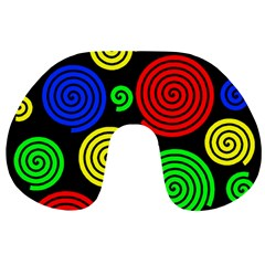 Colorful hypnoses Travel Neck Pillows