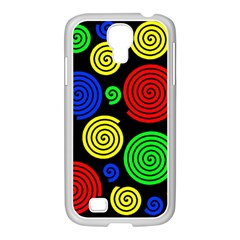 Colorful hypnoses Samsung GALAXY S4 I9500/ I9505 Case (White)