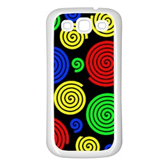 Colorful hypnoses Samsung Galaxy S3 Back Case (White)