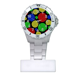 Colorful hypnoses Plastic Nurses Watch