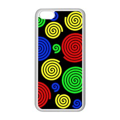 Colorful hypnoses Apple iPhone 5C Seamless Case (White)
