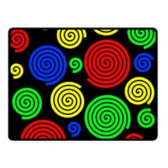 Colorful hypnoses Double Sided Fleece Blanket (Small)