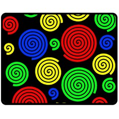 Colorful hypnoses Double Sided Fleece Blanket (Medium)