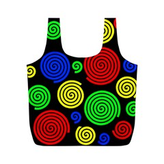 Colorful hypnoses Full Print Recycle Bags (M)
