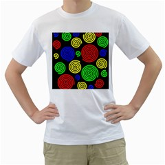 Colorful hypnoses Men s T-Shirt (White)