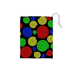 Colorful hypnoses Drawstring Pouches (Small)