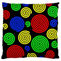 Colorful hypnoses Standard Flano Cushion Case (Two Sides)