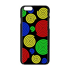 Colorful hypnoses Apple iPhone 6/6S Black Enamel Case