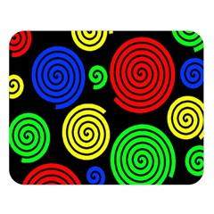 Colorful hypnoses Double Sided Flano Blanket (Large)