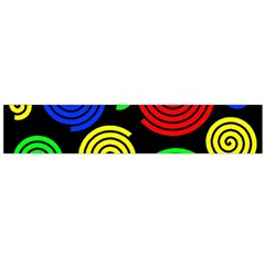 Colorful hypnoses Flano Scarf (Large)