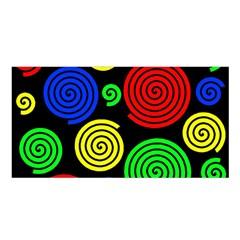 Colorful hypnoses Satin Shawl