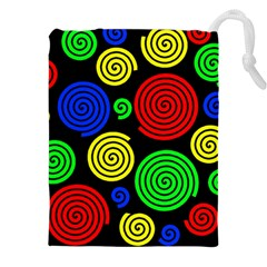 Colorful hypnoses Drawstring Pouches (XXL)
