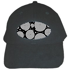 Black and white hypnoses Black Cap