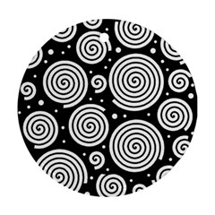 Black and white hypnoses Ornament (Round)