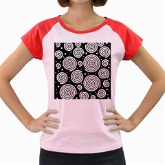Black and white hypnoses Women s Cap Sleeve T-Shirt