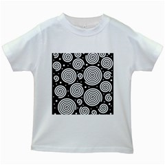 Black and white hypnoses Kids White T-Shirts