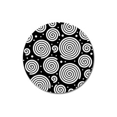 Black and white hypnoses Magnet 3  (Round)