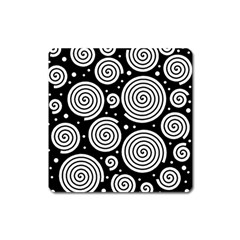 Black and white hypnoses Square Magnet