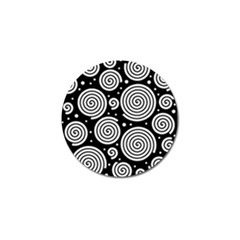 Black and white hypnoses Golf Ball Marker (4 pack)