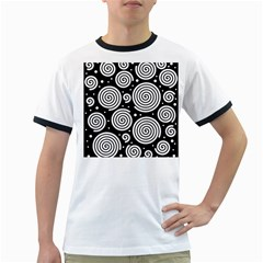 Black and white hypnoses Ringer T-Shirts