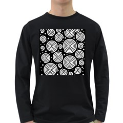 Black and white hypnoses Long Sleeve Dark T-Shirts