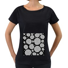 Black and white hypnoses Women s Loose-Fit T-Shirt (Black)