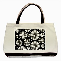 Black and white hypnoses Basic Tote Bag